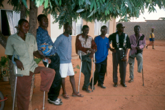 Former Angolan soldiers who lost limbs during the war